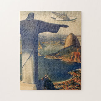 Vintage Rio De Janeiro, Christ the Redeemer Statue Jigsaw Puzzles