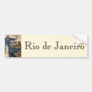 Vintage Río de Janeiro, Cristo la estatua del Pegatina Para Coche