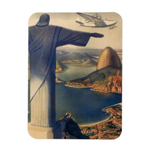 Vintage Río de Janeiro, Cristo la estatua del Imán De Vinilo