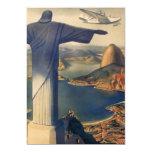 Vintage Río de Janeiro, Cristo la estatua del Invitacion Personal