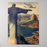 Vintage Río de Janeiro, Cristo la estatua del rede Impresiones