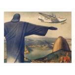 Vintage Río de Janeiro, Cristo la estatua del Tarjeta Postal
