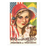 Vintage Rio de Janeiro Tourism Poster Postcards