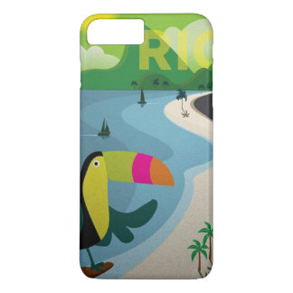 Vintage Rio Travel Poster iPhone 7 Plus Case