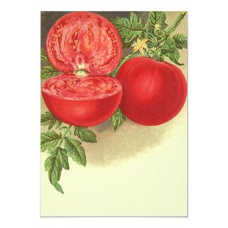 Vintage Ripe Tomato Farmers Market Invitation t5x7