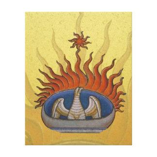 Vintage Rising Phoenix Mythological Firebird Canvas Print