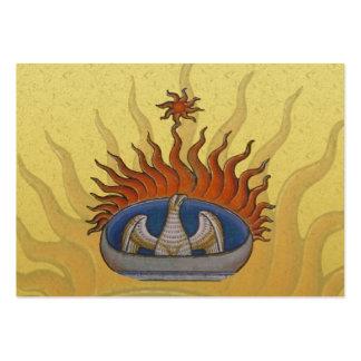 Vintage Rising Phoenix Mythological Firebird Large Business Card