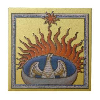 Vintage Rising Phoenix Mythological Firebird Ceramic Tiles