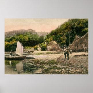 Vintage River Dart Dittisham Poster