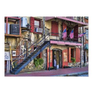 Vintage River Street, Savannah, Georgia Invitation