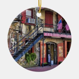Vintage River Street, Savannah, Georgia Christmas Ornament