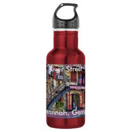 Vintage River Street, Savannah, Georgia Photo Stainless Steel Water Bottle