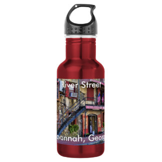 Vintage River Street, Savannah, Georgia Photo Stainless Steel Water Bottle