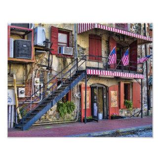 Vintage River Street Savannah Georgia Travel Photo