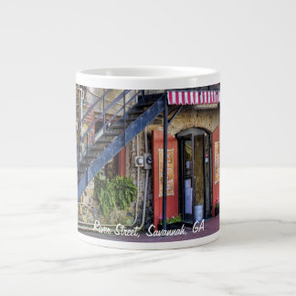 Vintage River Street Savannah Georgia Travel Photo Giant Coffee Mug