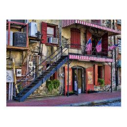 Vintage River Street Savannah Georgia Travel Photo Postcard
