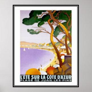 Vintage riviera francesa, Francia - Poster