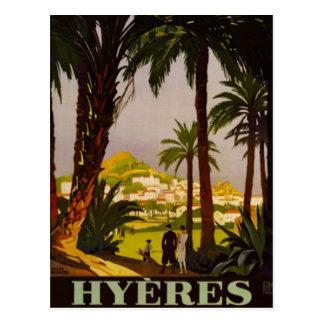 Vintage riviera francesa, Francia - Tarjeta Postal