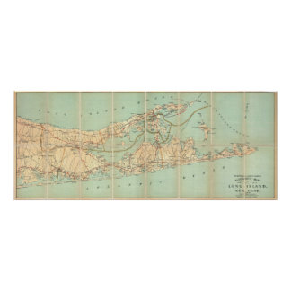 Vintage Road Map of Long Island (1905) Poster