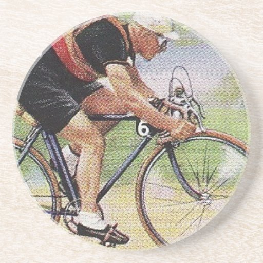 Vintage Road Racing Cyclist Coaster