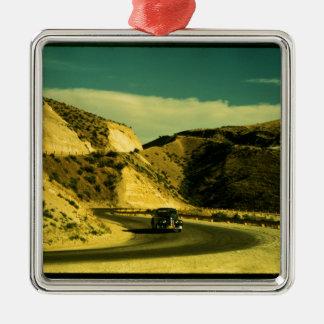 Vintage Road Trip Metal Ornament