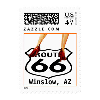 Vintage Road Trip Route 66 Sign Pin-up shoes Stamp
