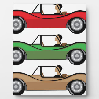 Vintage Roadster vector Plaque