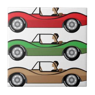 Vintage Roadster vector Tile