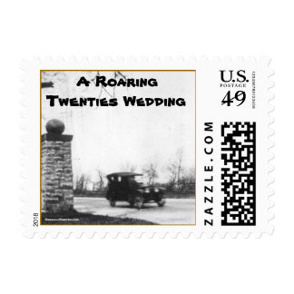 Vintage Roaring Twenties Wedding Stamp