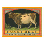 Vintage Roast Beef Advertisement New York Postcard