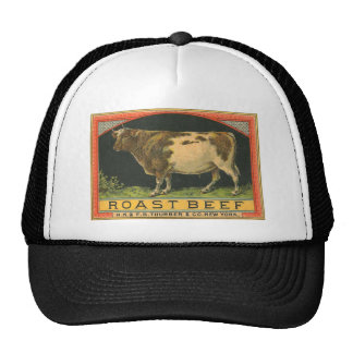 Vintage Roast Beef Advertisement Trucker Hat
