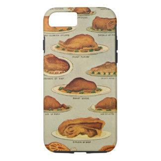 Vintage Roast Meat Illustration iPhone 7 Case