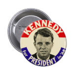 Vintage Roberto Kennedy para presidente Pin 1968