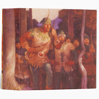 Vintage Robin Hood and His Merry Men by NC Wyeth 3 Ring Binder