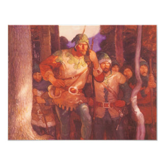 Vintage Robin Hood and His Merry Men by NC Wyeth 4.25x5.5 Paper Invitation Card