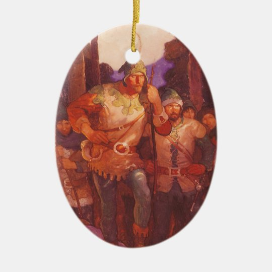 Vintage Robin Hood and His Merry Men by NC Wyeth Ceramic Ornament