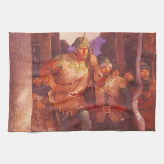 Vintage Robin Hood and His Merry Men by NC Wyeth Hand Towel