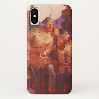 Vintage Robin Hood and His Merry Men by NC Wyeth iPhone X Case