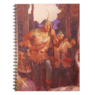 Vintage Robin Hood and His Merry Men by NC Wyeth Notebook
