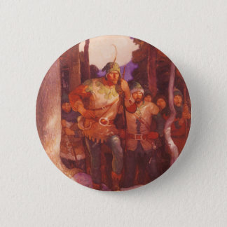 Vintage Robin Hood and His Merry Men by NC Wyeth Pinback Button