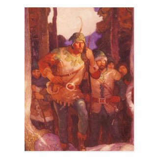 Vintage Robin Hood and His Merry Men by NC Wyeth Post Cards