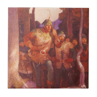 Vintage Robin Hood and His Merry Men by NC Wyeth Tile