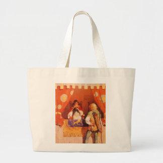 Vintage Robin Hood Meets Maid Marian by NC Wyeth Tote Bags