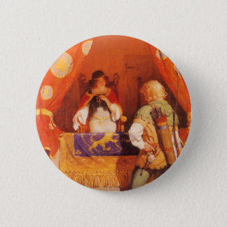 Vintage Robin Hood Meets Maid Marian by NC Wyeth Button