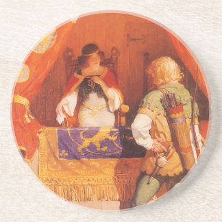 Vintage Robin Hood Meets Maid Marian by NC Wyeth Coasters