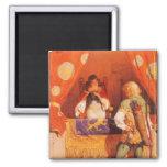 Vintage Robin Hood Meets Maid Marian by NC Wyeth Fridge Magnet