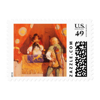 Vintage Robin Hood Meets Maid Marian by NC Wyeth Postage