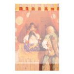 Vintage Robin Hood Meets Maid Marian by NC Wyeth Personalized Stationery