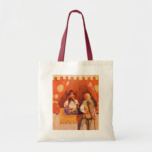 Vintage Robin Hood Meets Maid Marian by NC Wyeth Tote Bag