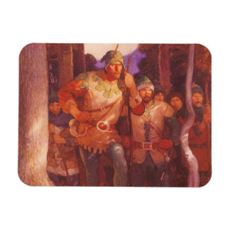 Vintage Robin Hood y sus felices hombres por NC Imán De Vinilo